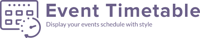 events schedule logo