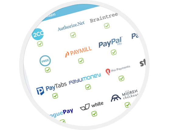 Integrated Payment Gateways