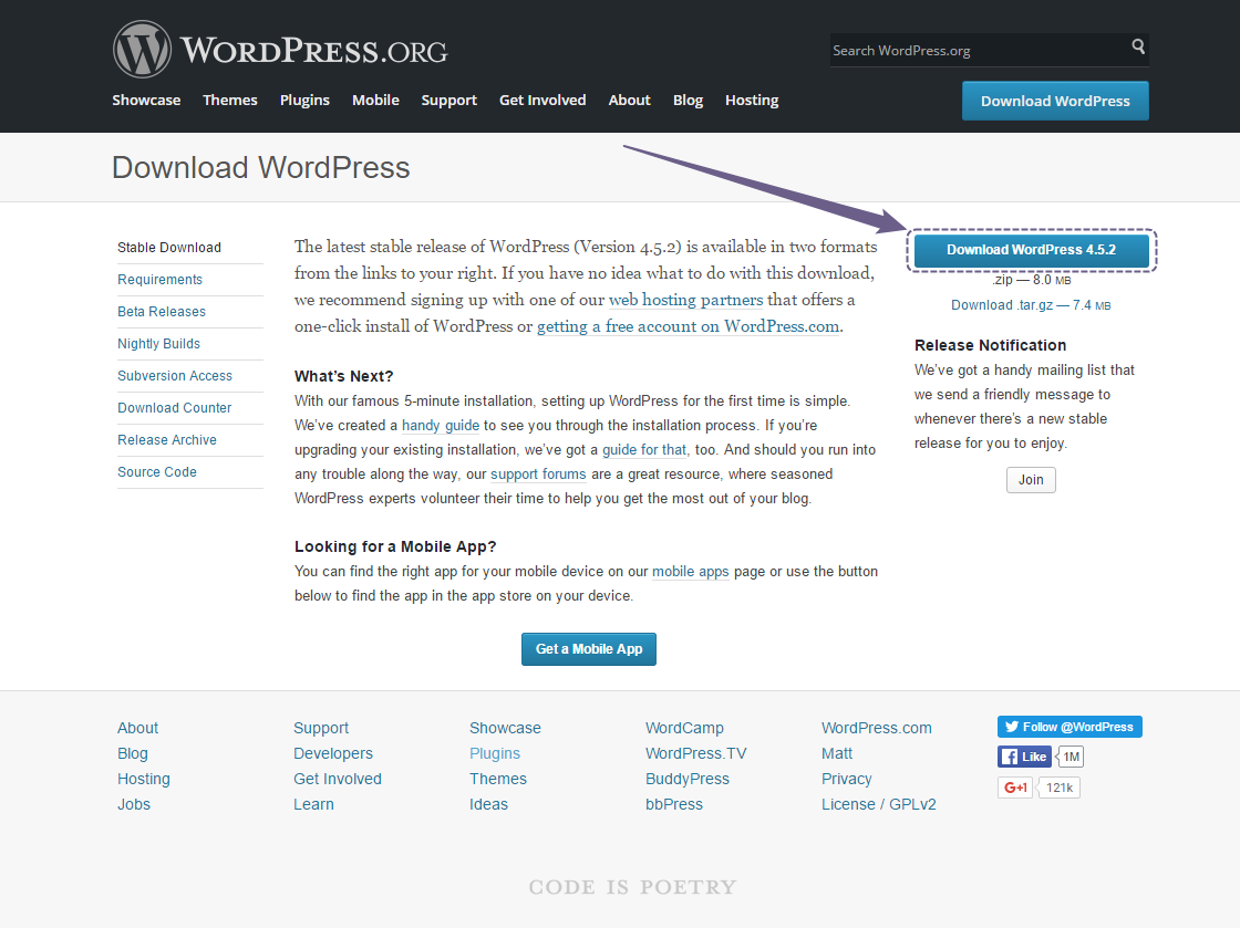 WordPress.org - download