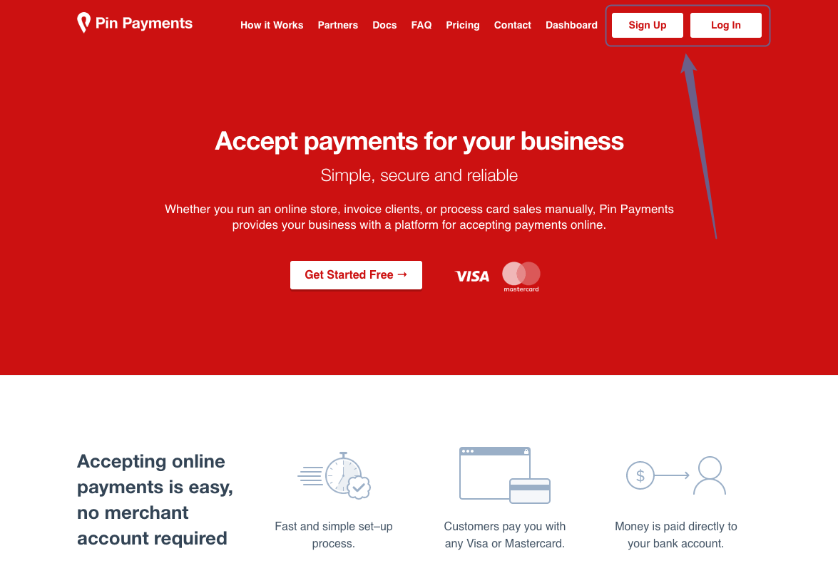 PinPayments - front
